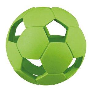 Trixe Hundelegetøjs Bold med Huller i Naturgummi - Ø7cm - - - -