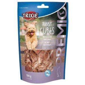 Trixie Hunde Snack Godbidder af Kaninkød i Terninger - 100g - 70% Kød