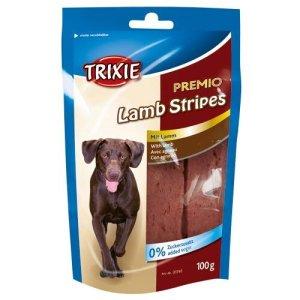 Trixie Premio Hunde Snack Godbidder med Lamme Striber - 100g - Sukkerfrie - Glutenfrie - 90% Kød