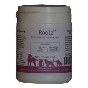 Vetcur Rootz tilskud til hund og kat, 150 kapsler