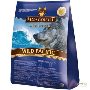 WolfsBlut Wild Pacific Adult med fisk, 15 kg