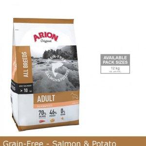 Arion Kornfrit Hundefoder - Med Laks og Kartoffel - 12kg