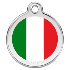 Hundetegn Italiensk flag Large