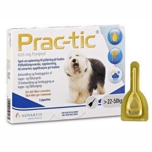 Prac-Tic loppe- og flåtmiddel til hunde, 22 til 50 kg