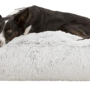 Harvey Hundemadras, Hvid/Sort, 80 x 60cm