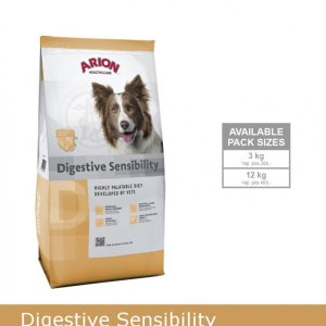 Arion Digistive Sensibility Hundefoder - Med Hjortekød og Ris - 12kg