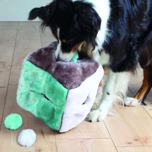 Legetøj til hund - Firkant med bolde i plys