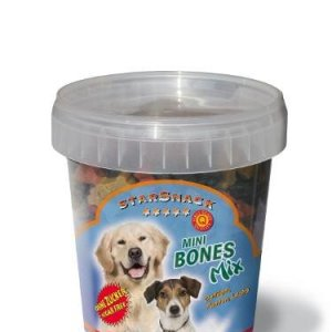 StarSnack Hunde snack Godbidder Mini Ben Mix - Med Kallun, Kylling og Lakseolie - 500g - Sukkerfrie - - - -