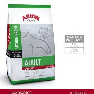 Arion Original Adult Medium Breed Hundefoder - Lam og Ris - 12kg