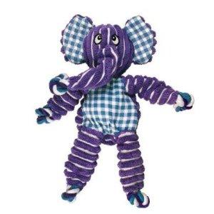 Kong Hundelegetøjs Floppy Knots Elefant - 36cm - Med Pivelyd og Reb
