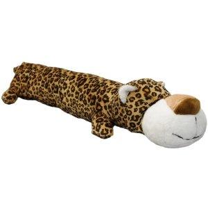 Hundelegetøjs Plys Bamse Leopard Med Piv 45cm