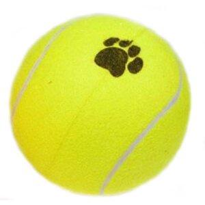 Hundelegetøjs XXXL Tennisbold - Ø25cm - Pumpes med Luft