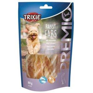 Trixie Premio Hunde Snack Kaninøre - Med Kylling - 80g - Sukkerfrie & Glutenfrie