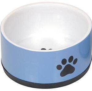 Nobby Hundeskål i Keramik - Med Pote Motiv - Flere Størrelser - Blå