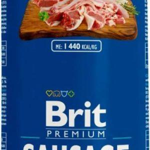 Brit Sausage vådfoder Kylling og Lam 800g