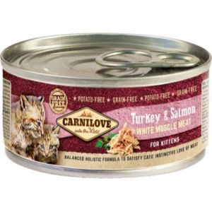 Carnilove Cat Dåsefoder Kitten: Turkey & Salmon 100g