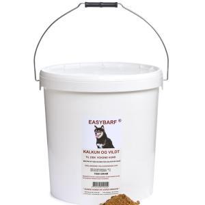 EasyBarf Kalkun og Vildt, 7500 g - til den voksne hund