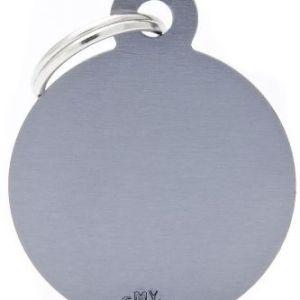 Hundetegn Basic Aluminium Big circle grå