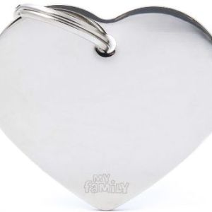 Hundetegn Basic Chrom Big heart