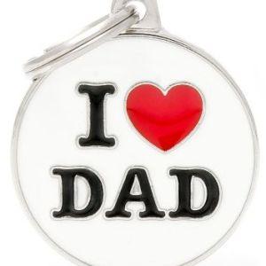 Hundetegn Charms I Love Dad Big circle