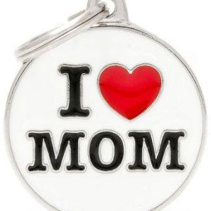 Hundetegn Charms I Love Mom Big circle