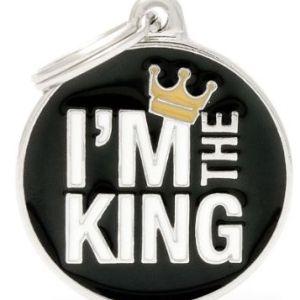 Hundetegn Charms I'm The King Medium circle