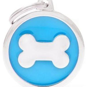 Hundetegn Classic Bone Big circle lyseblå