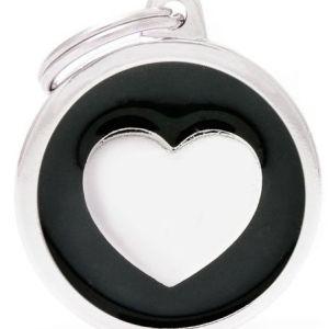 Hundetegn Classic Heart Big circle sort