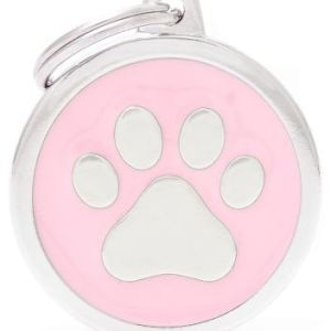 Hundetegn Classic Paw Big circle pink
