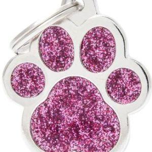 Hundetegn Shine Glitter Big paw pink
