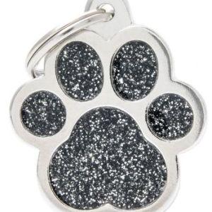 Hundetegn Shine Glitter Big paw sort