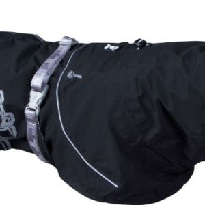 Hurtta regnjakke Drizzle Coat Raven 20cm