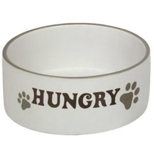 Nobby hundeskål - Hungry - Creme/brun