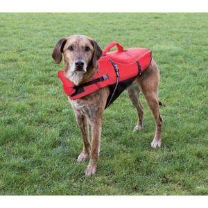 Redningsvest til hund Rød Large*