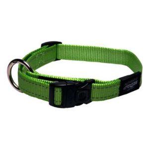 Rogz halsbånd Nitelife Lime Green, flere størrelser 43-70 cm