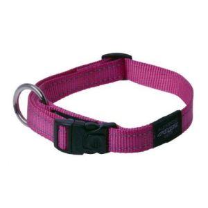 Rogz halsbånd Nitelife pink, flere størrelser 26-40 cm