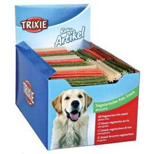 Trixie Hunde Snack Tyggepinde med Ris - 12cm - Light - Vegetarisk - - - -