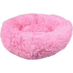 Flamingo Donut Fluffy Hundeseng - Pink - Ø50cm