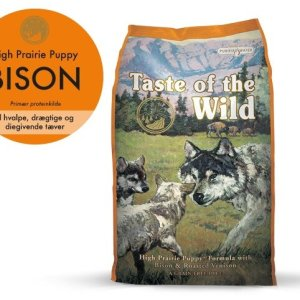 Taste Of The Wild High Prairie Hvalpefoder - Med Bison - 12,2kg - Kornfrit
