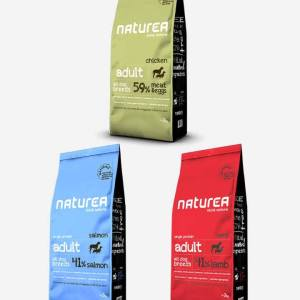 3x12 kg Mix Naturea Naturals Adult m/ Laks-Lam-Kylling