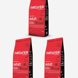3x12 kg Naturea Naturals Adult m/Lam