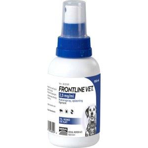 Frontline Hunde og Katte Vet Spray - Forebyggende og Behandling mod Utøj - Flere Størrelser