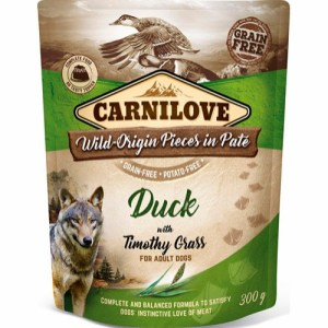 Carnilove Pate Duck & Timothy Grass 300g