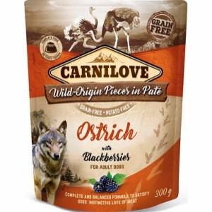 Carnilove Pate Ostrich & Blackberries 300g