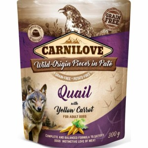Carnilove Pate Quail & Yellow Carrot 300g