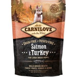 Carnilove Puppy LB Salmon & Turkey smagsprøve, 100g