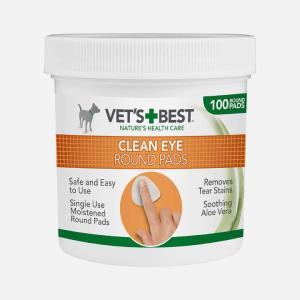 Engangs øjne renseservietter - Vet's Best (100 stk. i bøtte)