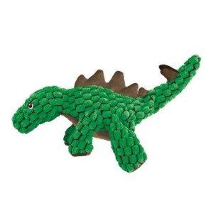 Kong Dynos Hundelegetøjs Bamse Stegosaurus i Plys - Med Forstærket Sygninger - Small - 32x14x7cm - Skratte og Pivelyd - - - -