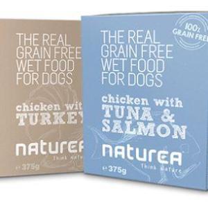 Naturea GrainFree vådfoder til hunde, Fisk & kylling