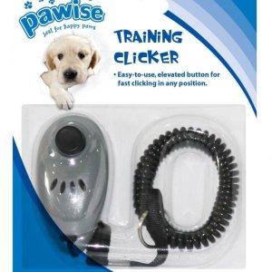 PaWise Hundetrænings Klikker i Plastik - Med Elastik Armbånd